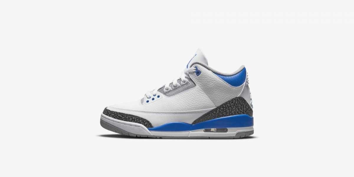 "Air Jordan 3 ""Racer Blue"" Basketball Shoes CT8532-145 Release Information Revealed!"