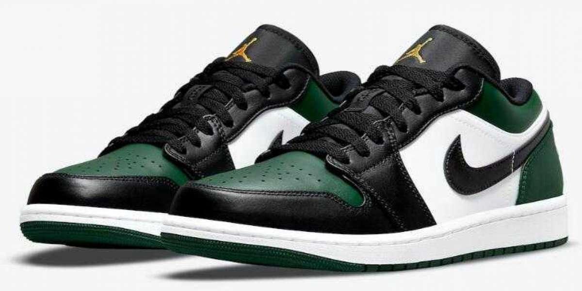 "Best Walking Sneakers Air Jordan 1 Low ""Green Toe"" Coming for Summer"